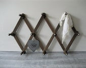 Accordion Rack with Porcelain Knobs