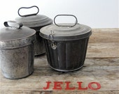 Antique Jello Molds with Lid (Set of Three)