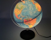 Vintage Rand McNally Illuminated World Globe