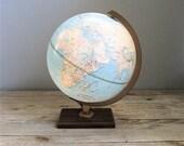 Vintage Replogle Lighted World Globe