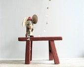 ON SALE Vintage Petite Wooden Stool
