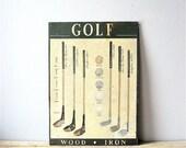 Vintage Tin Golf Sign