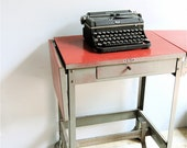 Vintage Pennant Industrial Typewriter Table