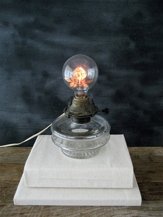 Reserved Vintage Aerolux Light Bulb With Glass Lamp