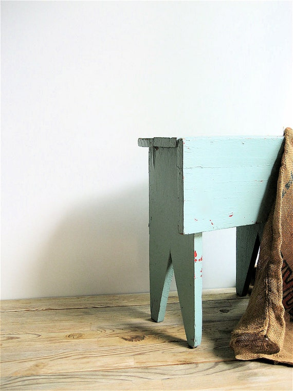 Primitive Wooden Bench /Footstool