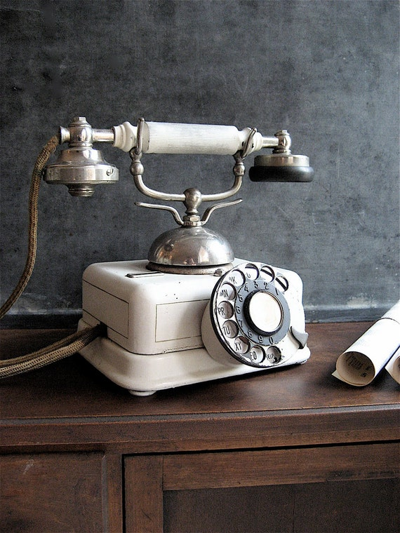 RESERVED  French Vintage Phone