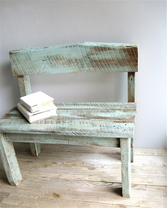 Vintage Reclaimed Wood Bench