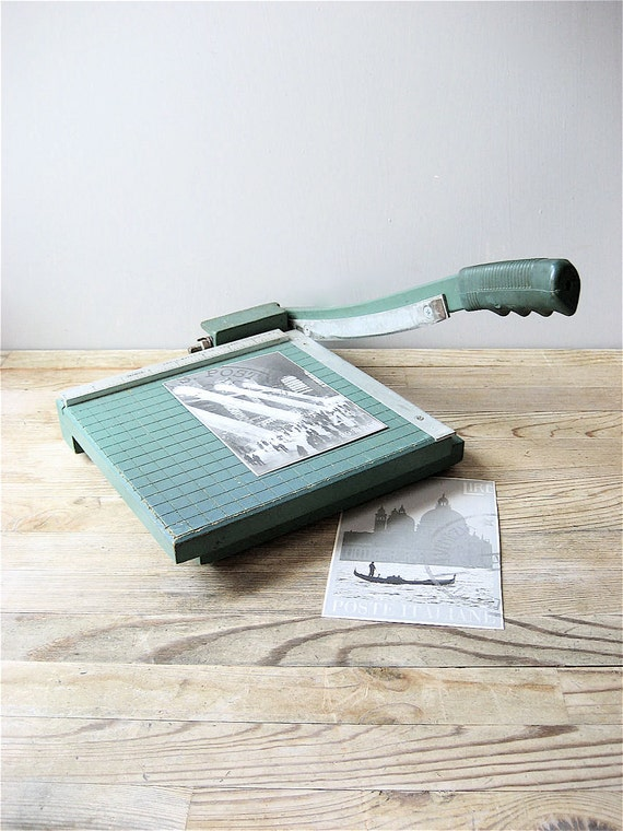 Vintage Guillotine Paper Cutter