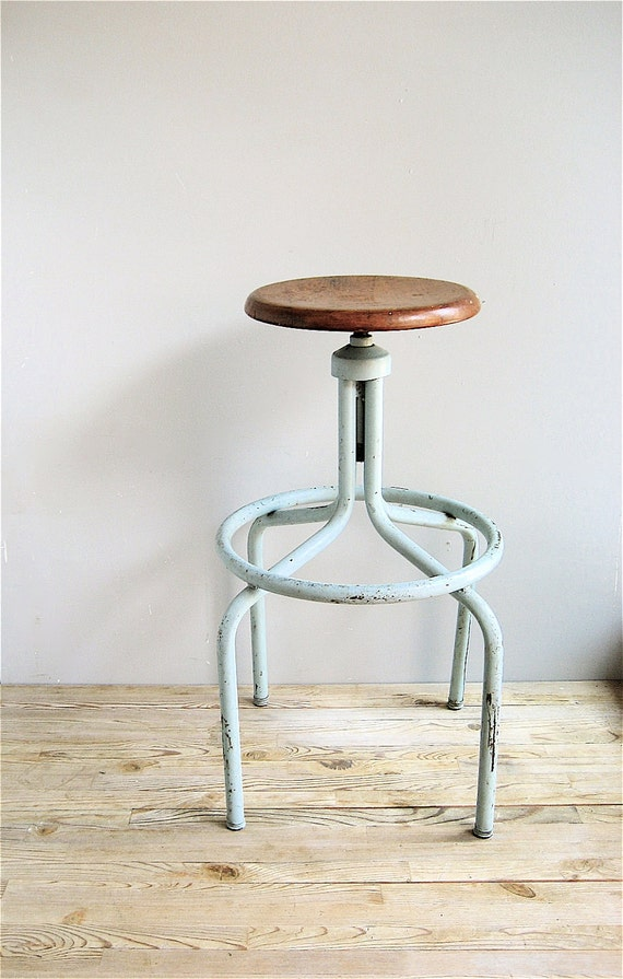 RESERVED Vintage Industrial Stool