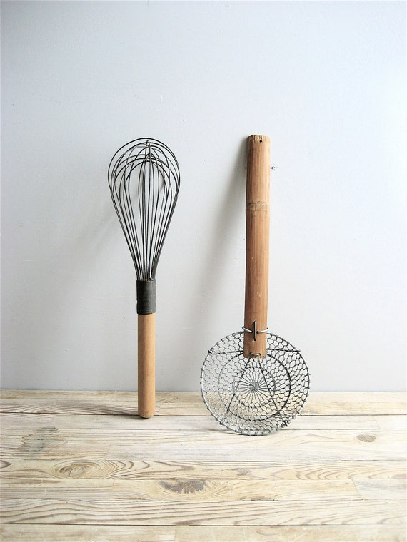 Vintage Pair Kitchen Utensils