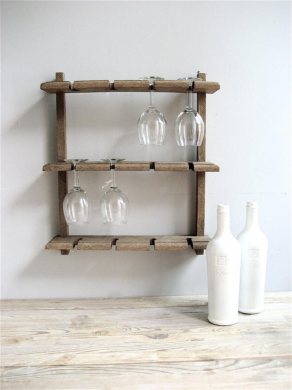 Vintage Wine Glass Rack