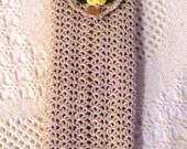 Crocheted Eye Glass/Sun Glass Case, Natural