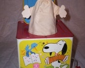 vintage 1966 snoopy in the music box toy