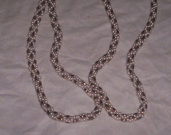 vintage necklace long braided beads