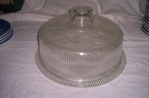 cake plate with dome vintage cake plate glass with dome lid 2273