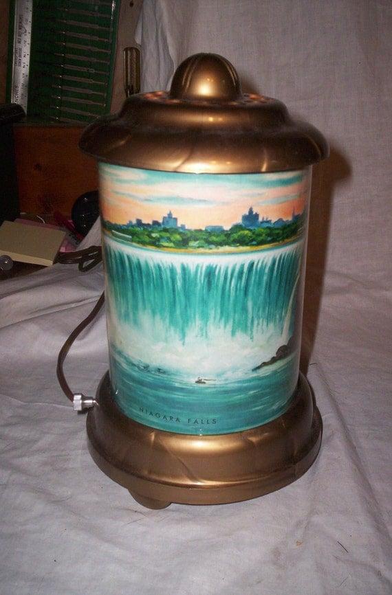 Vintage Animated Motion Lamp Light Niagra Falls 1950 S