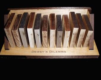 Dewey's Dilemma A Unique and Artistic Logic Wood Puzzle
