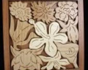 Flower Garden Wood Puzzle