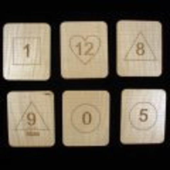 Wizard Magic Math Cards - Predict the Sum of the Hardwood Cards Chosen - in wood box