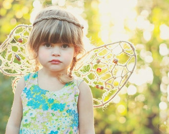 M/L Custom Fairy Wings Natural Colors Party, Photo Prop or Childplay