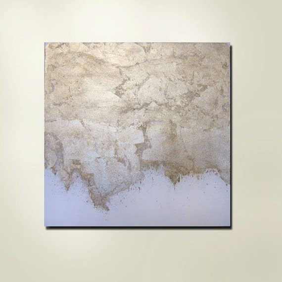 20% OFF End of Summer Sale Now through 10/9/12 Enter CODE20 at checkout Abstract Gold, White Contemporary Painting