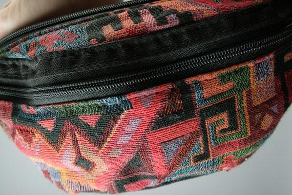 Red & Black Southwestern Weave Fanny Pack