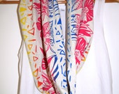 Floral handprinted festival scarf/snood