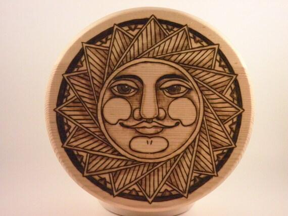 Pyrography, Round Sun Box