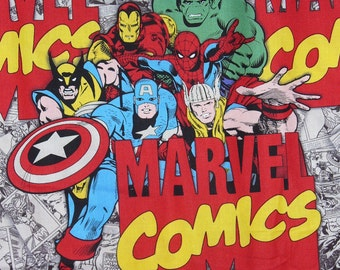 Marvel Comics  Fabric,  Marvel Logos,  Oversized Characters, Marvel Superheroes, By the Yard, Marvel Logos Fabric