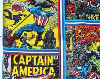 Captain America Fabric,  Captain America Comic Books, Marvel Avengers, Marvel Comics, By the Yard