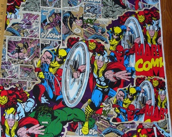 Marvel Fabric, Break Through, Marvel Superheroes, Capt America, Wolverine Ironman, Spiderman Thor, the Hulk, By the Yard
