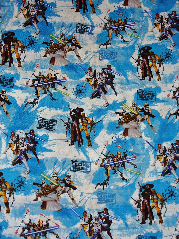 Star wars clone wars fabric oop last by trinketsintheattic for Star wars fabric
