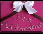 Two Tier Bride's Wedding Dress Hanger/Personalized/Shower Gift/Bridesmaid Gift