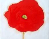 Red Poppy Ceramic Tile