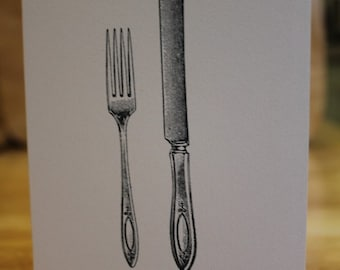 Knife and Fork Card