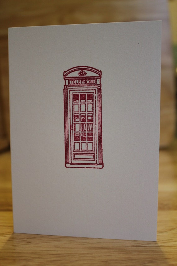 London Phone Box Card