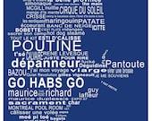 Quebec, Une Calisse de Belle Province Print, BLUE