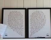 Romeo hearts  Juliet , love print