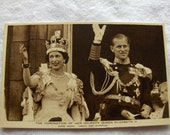 1953 Coronation of Queen Elizabeth II Post Card
