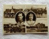King George VI/Queen Elizabeth Photo Postcard
