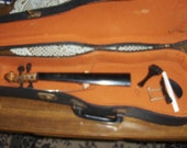 Antique Lifton Violin Case Early 20th Century Lined Case with some violin parts