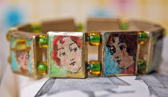 Ladies of the 1897 Sears Catalog Scrabble Tile Bracelet
