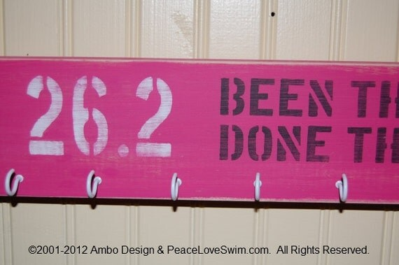 Marathon Medal Display Hanger - 26.2 Been There Done That - Can be personalized for FREE