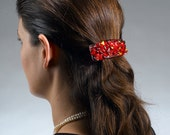 SALE Hair barrette handmade by dalit glass