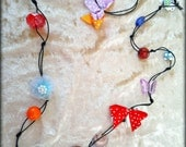 SALE Colorful beaded short necklace handmade by dalit-glass FREE SHIPPING