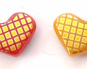 50% off!!! 2 HEARTS magnets espacially for VALENTINE DAY fused glass handmade by dalit glass free shipping
