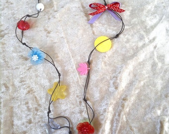 SALE Colorful beaded starfish necklace handmade by dalit-glass FREE SHIPPING