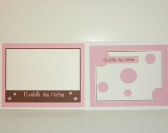 Personalized Baby Note Cards