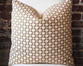 Schumacher -  Betwixt - Biscuit/Ivory -  22 in square - Designer Pillow - Decorative Pillow - Throw Pillow
