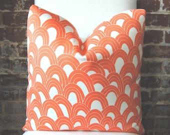 SALE! Schumacher - Trina Turk - Arches - Orange - 20 in square - Indoor/Outdoor - Designer Pillow - Decorative Pillow - Throw Pillow